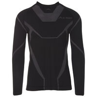 K-Way Men's Bamboo Thermaskins Long Sleeve Vest -  black