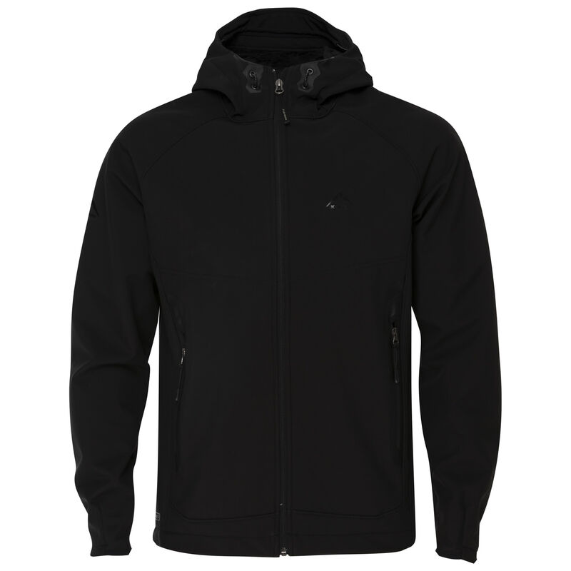 K-Way Men's Staden '19 Softshell 3 Hoody -  black-black