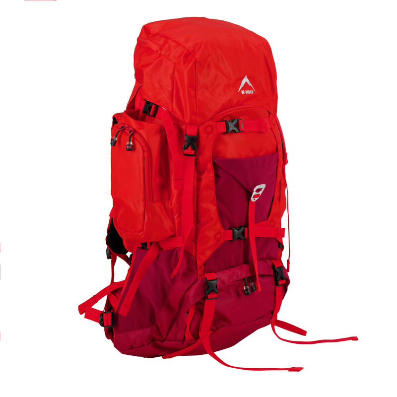 K-Way Adventure 50L Hiking Pack -  red-red