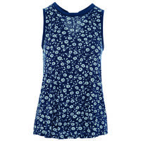 Greenlee Flower Tank -  navy
