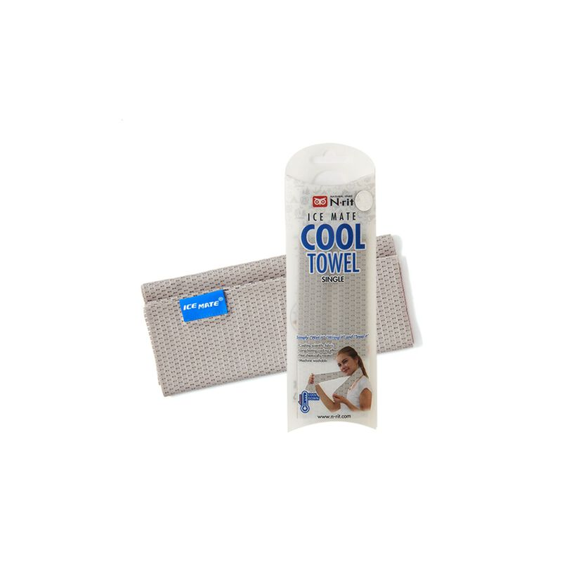 N-Rit SIngle Layer Cooling Ice Towel -  grey