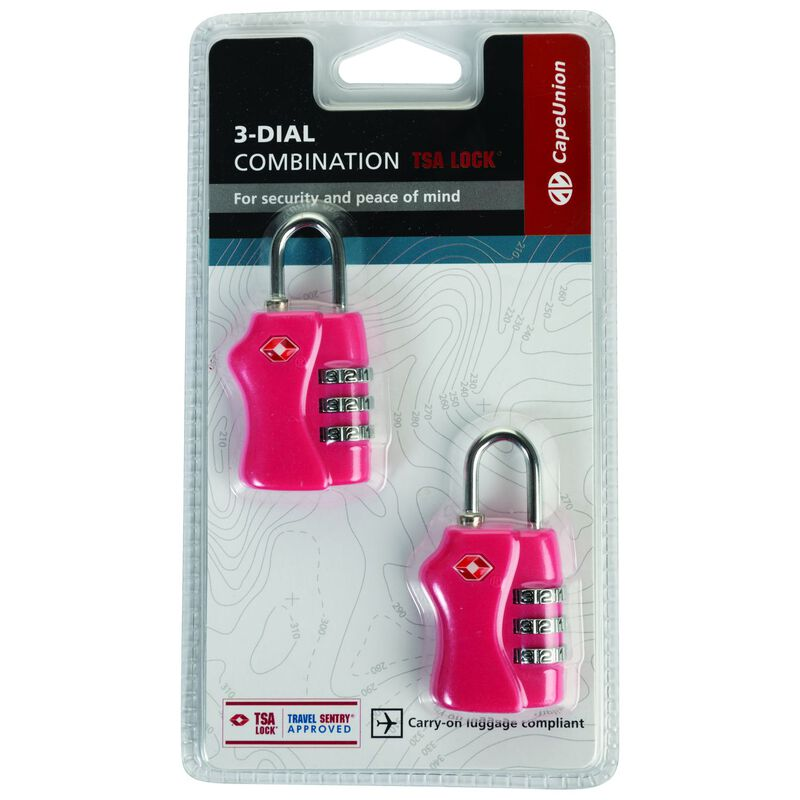 Cape Union TSA Combi Lock - Twin Pack -  pink