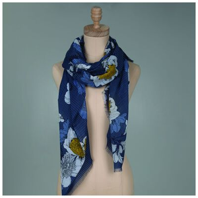 Rare Earth Geena Floral Stripe Scarf