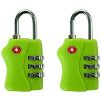 Cape Union TSA Combi Lock - Twin Pack -  lime