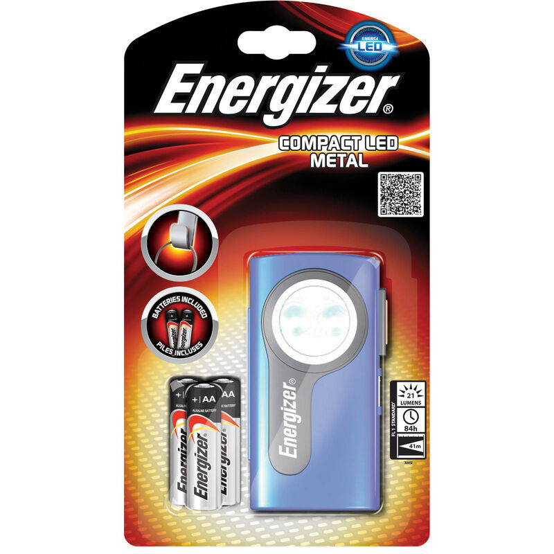 Energizer Compact LED Metal Light -  grey