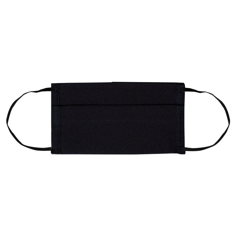 Fabric 2-Layer Face Mask 3-Pack with Filter -  black-black
