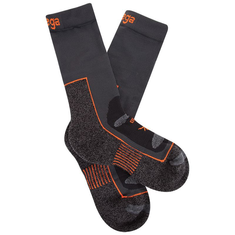 Balega Blister Resist Crew Sock -  grey-orange