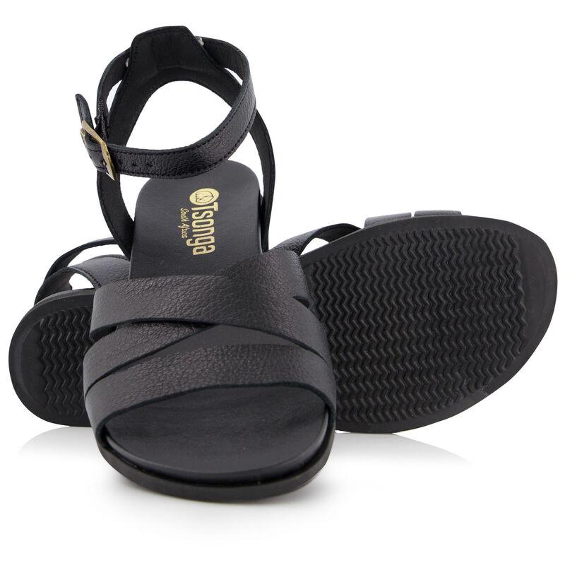 Tsonga Women's Amajikijolo Sandal -  black