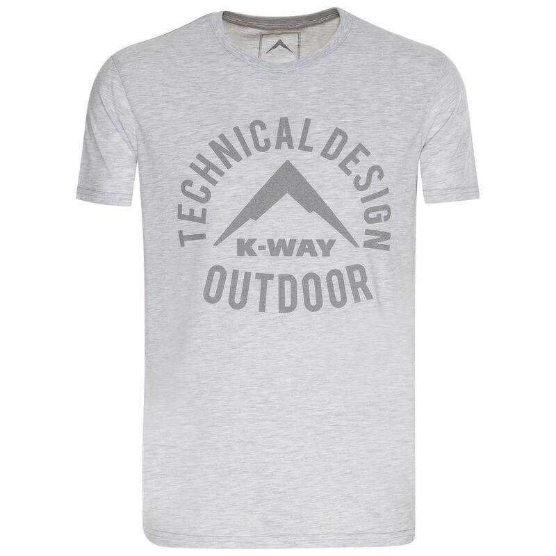 K-Way Men's Brand Vehicle T-Shirt -  silvergrey