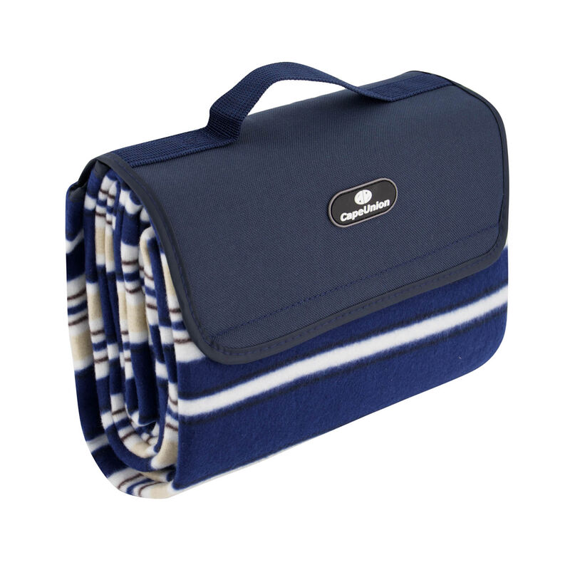 Cape Union Picnic Roll Up Rug -  navy