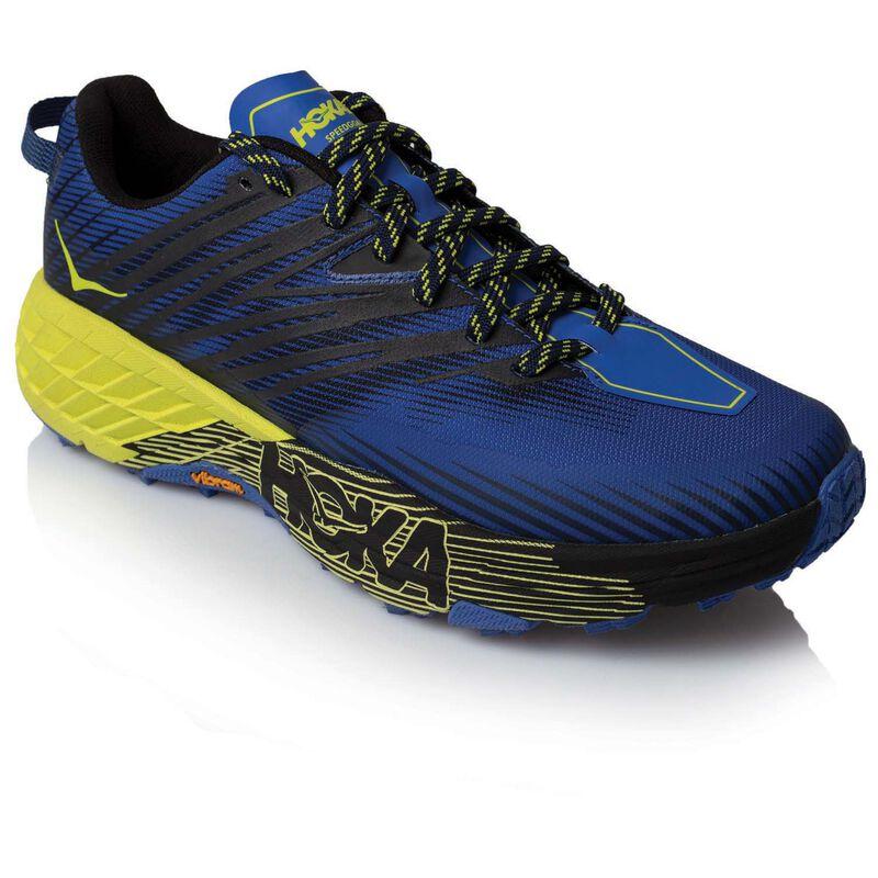 Hoka Men's Speedgoat 4 Shoe -  blue-yellow