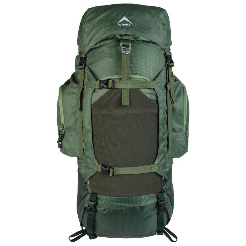 K-Way Adventure 60+10L Hiking Pack -  green-green